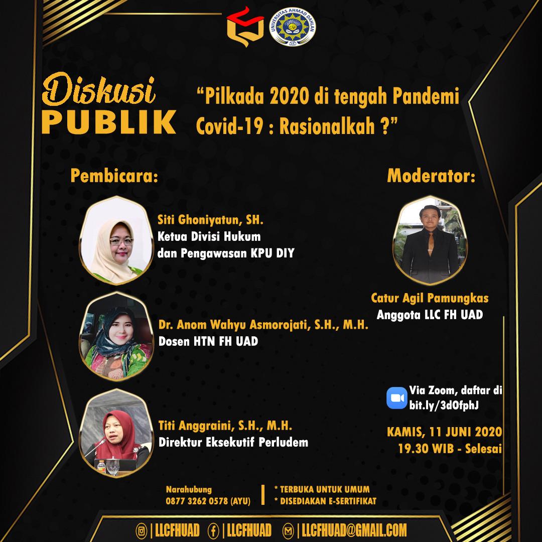 Pilkada 2020 Di Tengah Pandemi Covid 19 Rasionalkah Fakultas Hukum