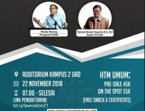 Seminar Nasional Kebangsaan Fakultas Hukum UAD 2018